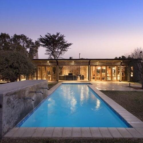 Luxusní stavení inspirované Afrikou