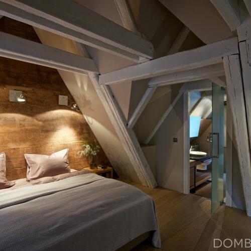 Půdní byt v malebném městě v jižních Čechách