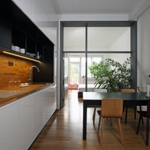 rekonstrukce bytu v Praze Vršovicích