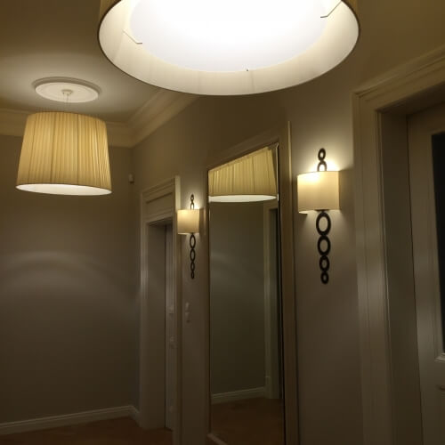 Návrh a realizace interiérů. Vybavení osvětlením.