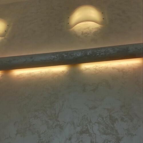 Realizace dekoračních omítek MARMORINO CLASSICO, MARCOPOLO LUXURY, MARCOPOLO, RILIEVO