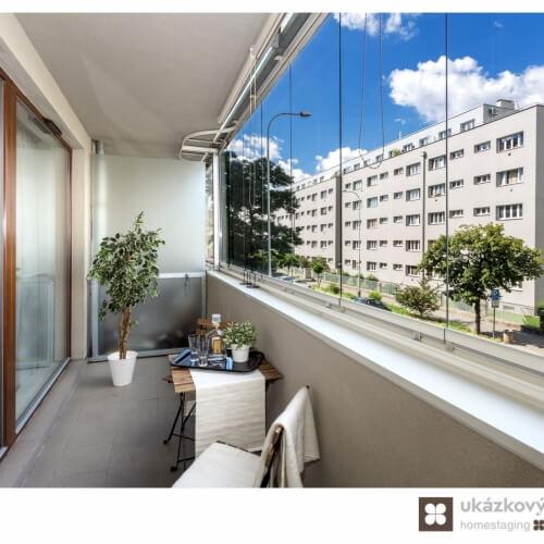 Home Staging prázdné garsonky, 49 m2, v Praze Holešovicích