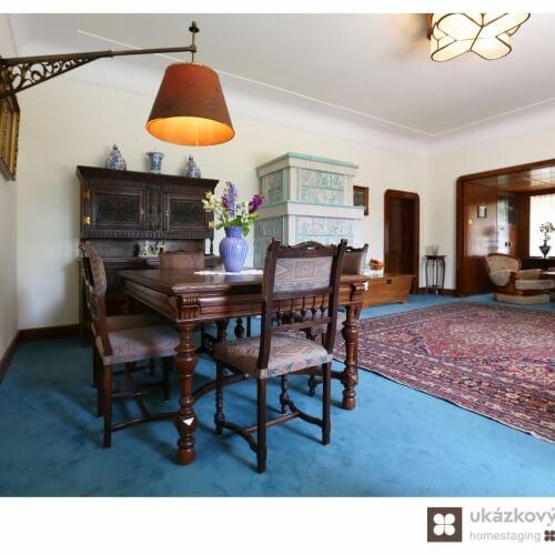 Home Staging zařízené prvorepublikové vily v Kamenici u Prahy