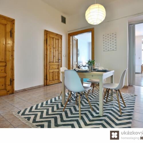 Home Staging nezařízeého bytu, Praha - Vinohrady
