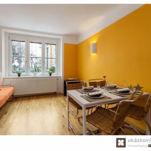 Home Staging zařízeného bytu v Praze na Vinohradech