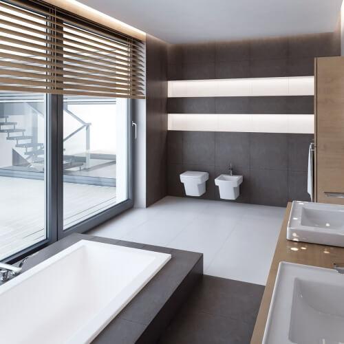 Koupelna v luxusním provedení